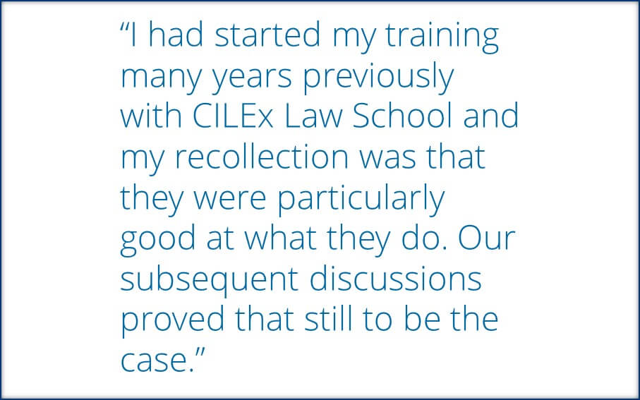 Employer speaks about their experience with legal apprentices